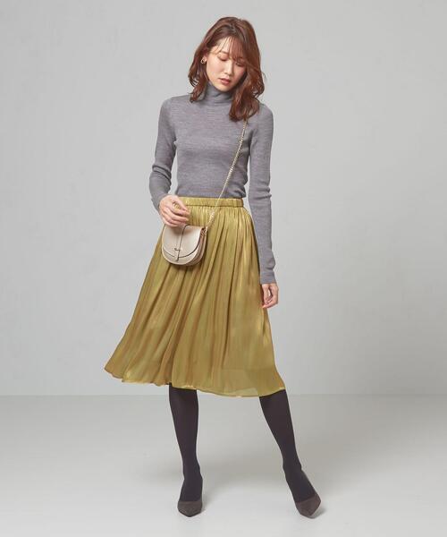 [green label relaxing] <closet story>□ヨウリュウ ギャザースカート -手洗い可能-