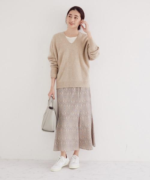 ペイズリープリントマーメイドスカート