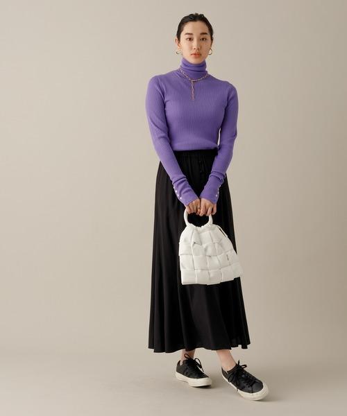 【一部店舗限定】フロント釦ギャザーマーメイドスカート