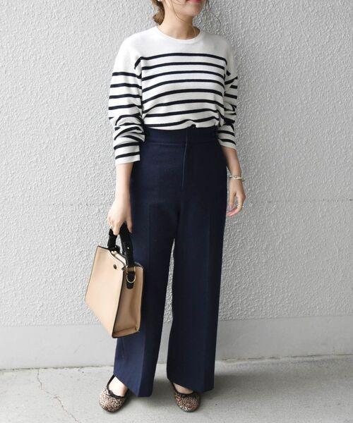 [SHIPS for women] SHIPS any: リサイクルウールメランジパンツ 12,980円