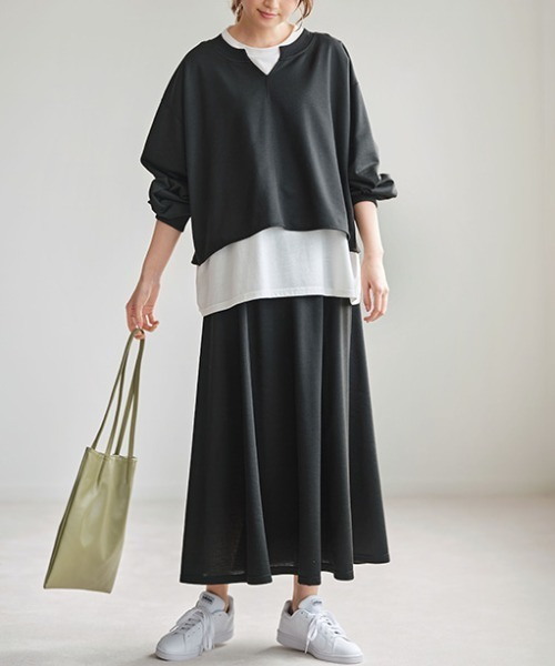 [GeeRA] 【21春新着】スウェットロングスカート