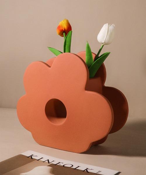 [aimoha] 韓国ハーフフラワー花瓶