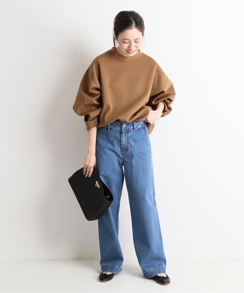 [IENA] LE DENIM バギーパンツ【洗濯機洗い可能】◆