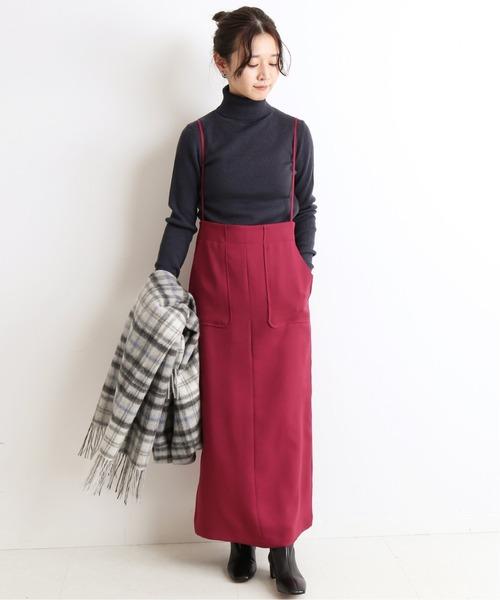 [IENA] ツイルキャミサロペットスカート【手洗い可能】◆