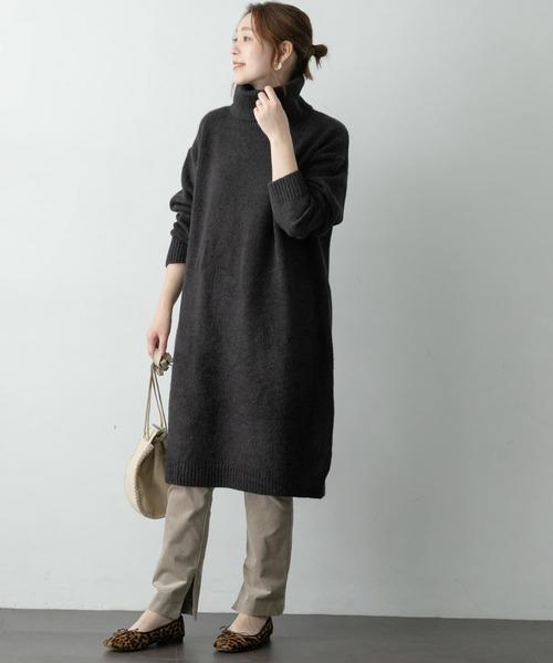 [URBAN RESEARCH ROSSO WOMEN] 【WEB/一部店舗限定】タートルネックワンピース