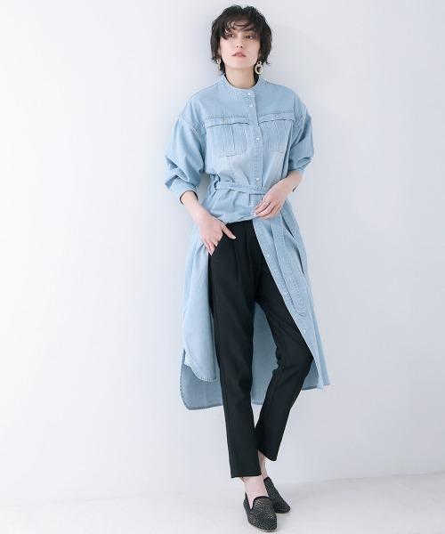 [Bou Jeloud] HAKIYASE(履き痩せ)撥水花粉ガードパンツ