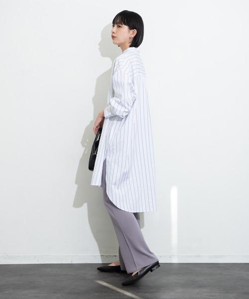 【2021ss / new arrival】センターラインシアーニットパンツ / AUNT MARIE'S