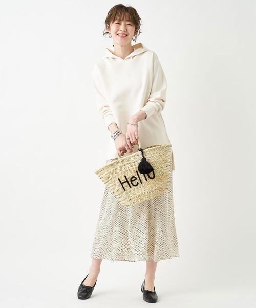 [un dix cors] 【軽やかで女性らしく着れる】スウィングdotロングスカート(フレア)