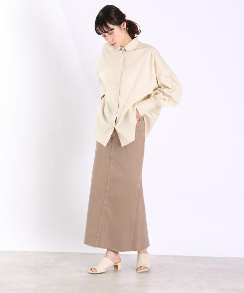 カラーデニムタイトスカート