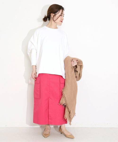 [IENA] Finxバギーサテン パッチポケットスカート◆