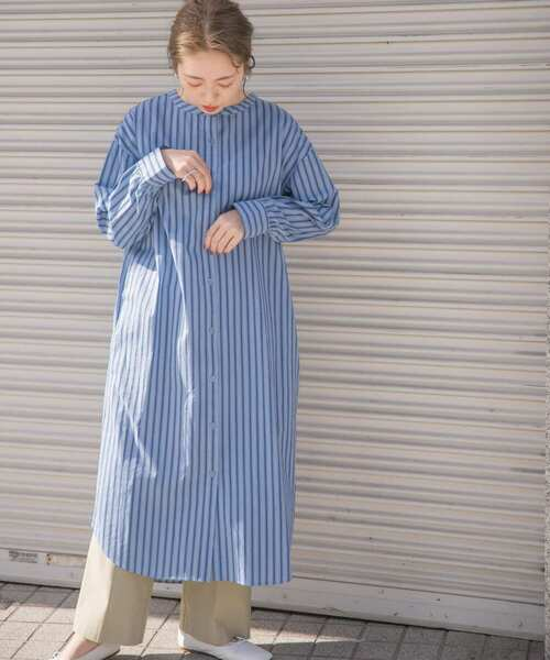 [ITEMS URBAN RESEARCH] 2WAYストライプシャツワンピース
