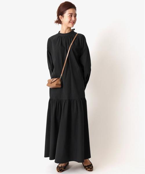 [Spick & Span] ギャザー切り替えドレス◆