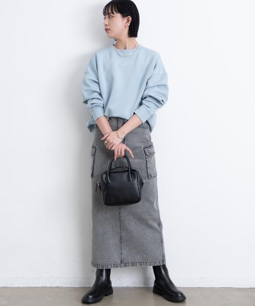 出典:zozo.jp [YARD PLUS/AUNT MARIE'S] 【2021ss / new arrival】ボンディングクルーネックプルオーバー / Aunt Marie's