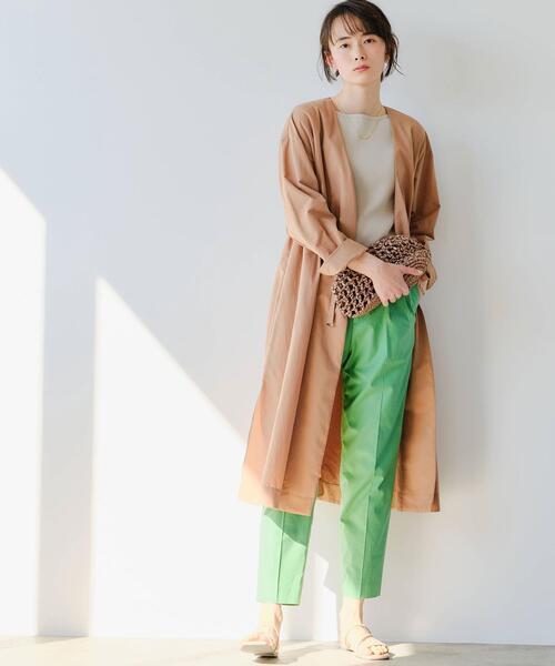 [green label relaxing] FFC ギャザー ドロスト ガウン コート