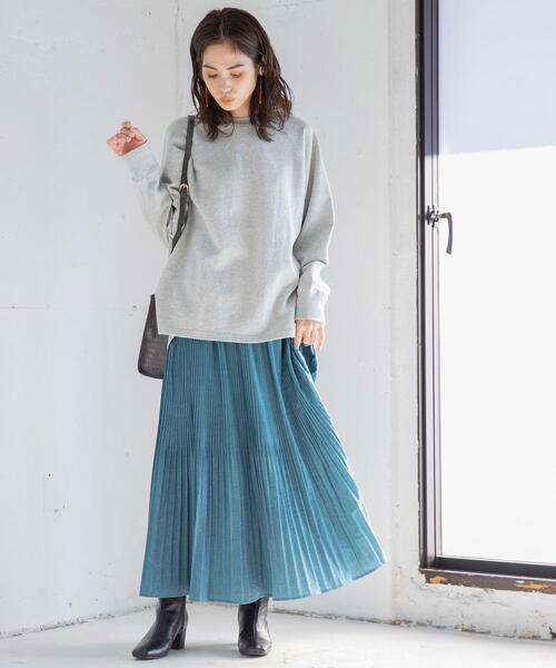 ヴィンテージプリーツマキシスカート(ロングスカート/プリーツスカート)