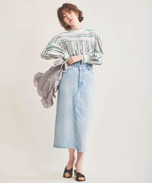 The Virgnia デニムタイトスカート
