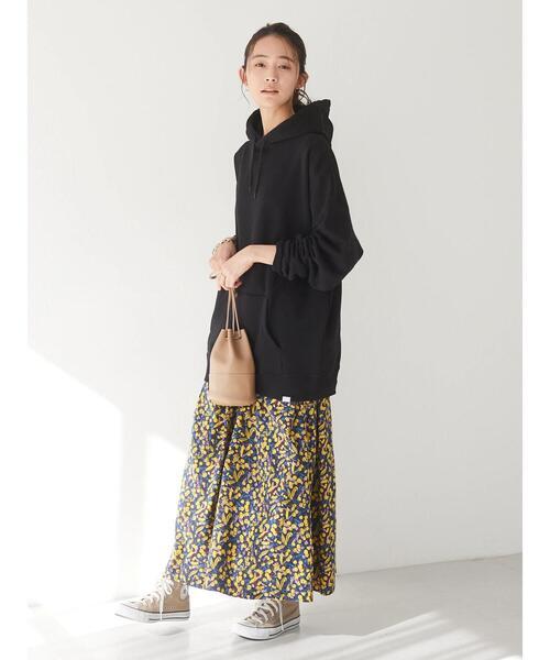 花柄ギャザースカート *