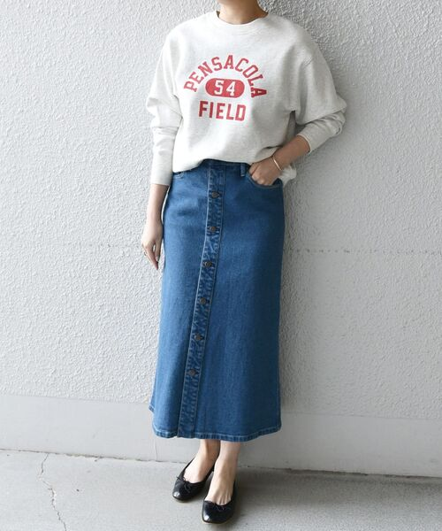 【SHIPS any別注】THE KNiTS: カレッジ スウェット◆