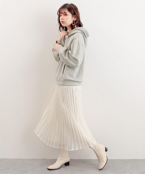 キラキラシアープリーツスカート