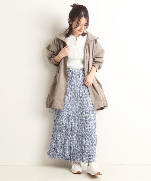 [IENA] プリーツフレアスカート【ウエストゴム】◆