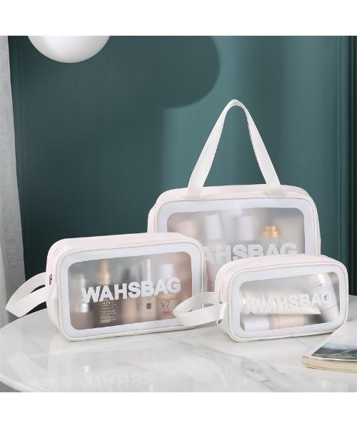 [DEVICE] シンプルポーチ3点セット 大容量収納バッグ 化粧ポーチ 防水 化粧 旅行 トラベル バニティ メイクボックス 収納 メイクボックス 筆入れ