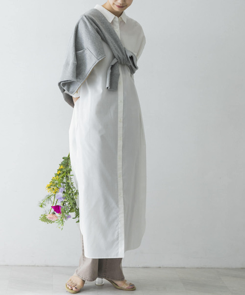 [URBAN RESEARCH] 【WEB限定】マキシシャツワンピース
