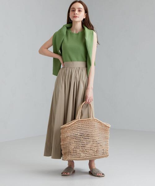 [green label relaxing] ◆FFC コットン N タイプライター ギャザー スカート