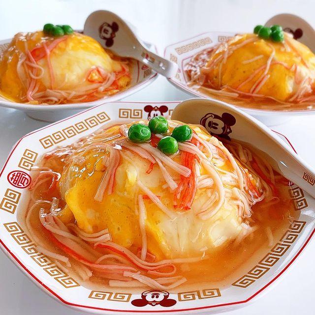カニカマ天津飯は100円の節約料理レシピ