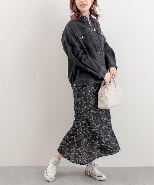[natural couture] バンドカラールーズGジャン