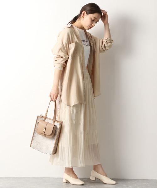 [mysty woman] Wポケットオーバーシャツ 941797