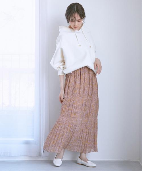 プリントマジョリカプリーツスカート