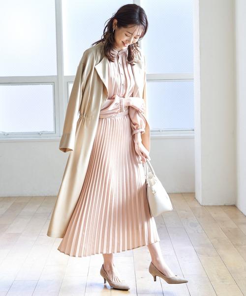 [ROPE' PICNIC] 【Marisol ONLINE / 美女組Akaneさんコラボ】ハイネック釦ワンピース