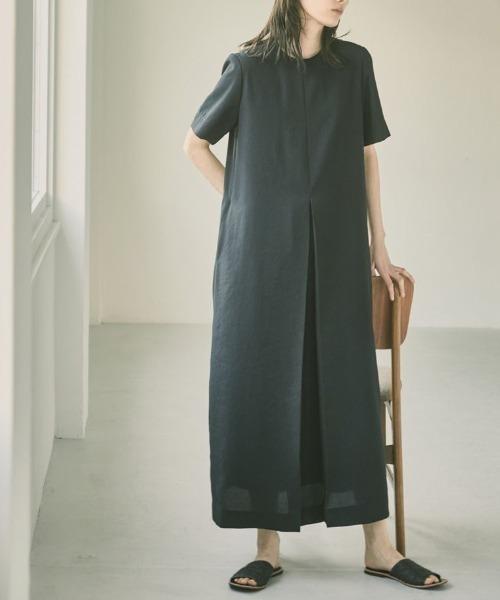 "[CANAL JEAN] TODAYFUL(トゥデイフル) ""Halfsleeve Tuck Dress""ハーフスリーブタックドレス/12110332"