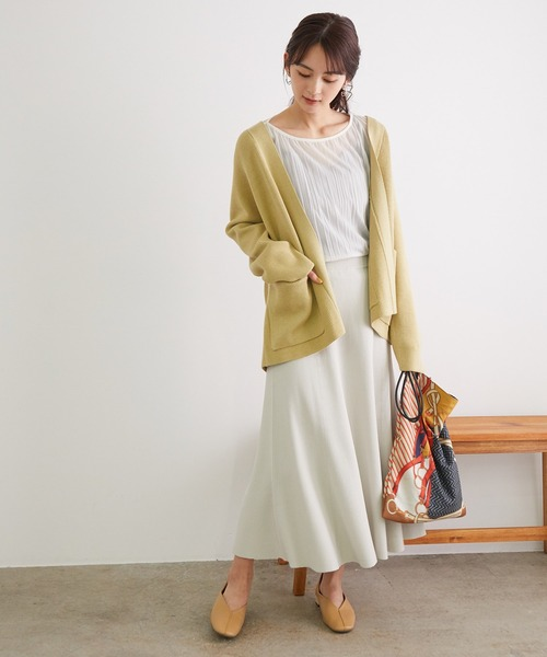 [ROPE' PICNIC] 【セットアップ対応】リブフレアニットスカート