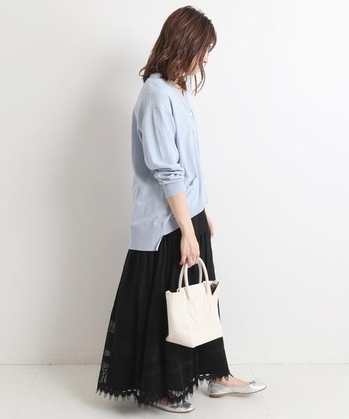 刺繍レーススカート【ウエストゴム】◆