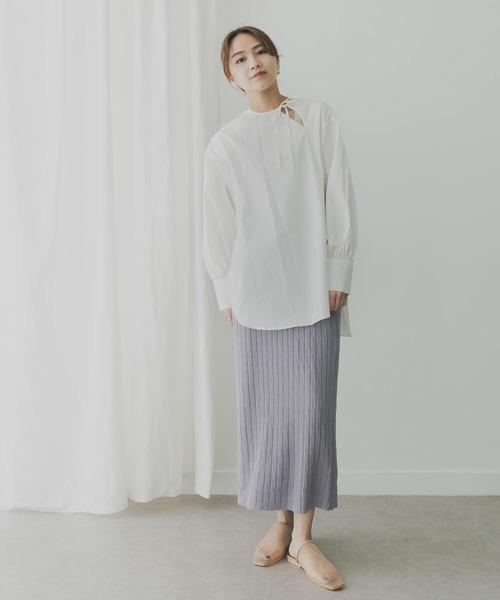 KBF+ 柄編みニットスカート