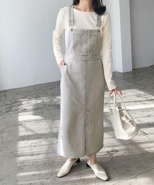 デニム/ツイルジャンパースカート