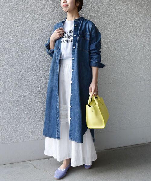 [SHIPS for women] SHIPS any: ストライプパターン ギャザー スカート〈ウォッシャブル〉◆14