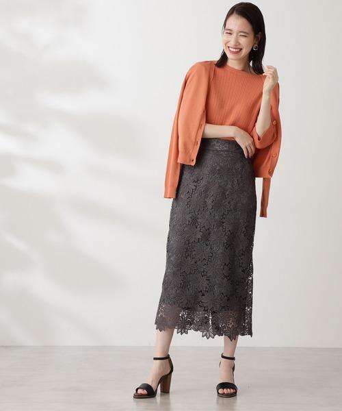 ◆ケミカルレースロングスカート