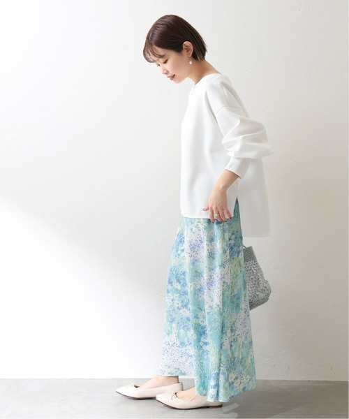[La TOTALITE] ガーデンプリントスカート【手洗い可能】◆
