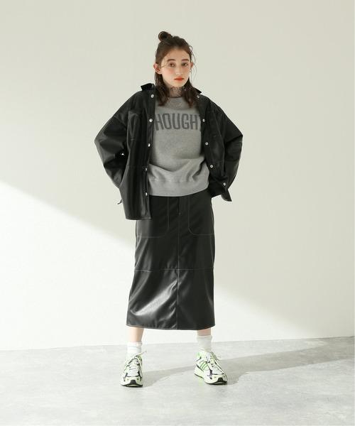 [JOURNAL STANDARD] フェイクレザースカート