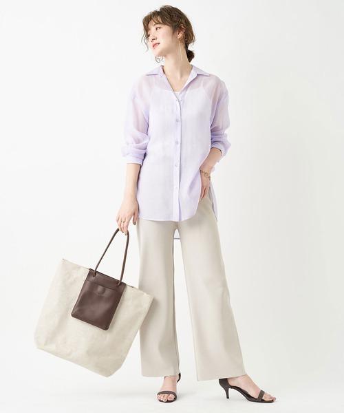 トレンドの一枚 シアーオーガンシャツ(長袖)