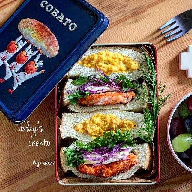 お弁当に◎サーモンとクリチのサンドイッチ