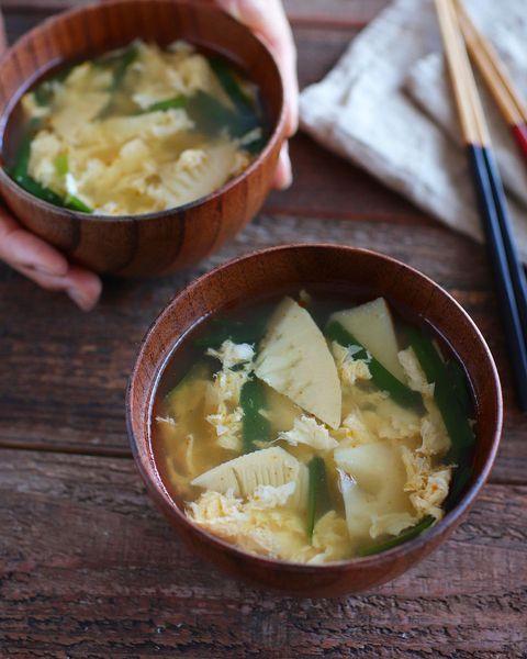 たけのこと卵の中華スープ