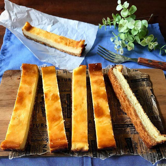 簡単な作り方!塩スティックチーズケーキ