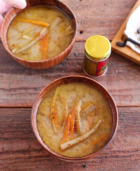 きんぴら味噌汁