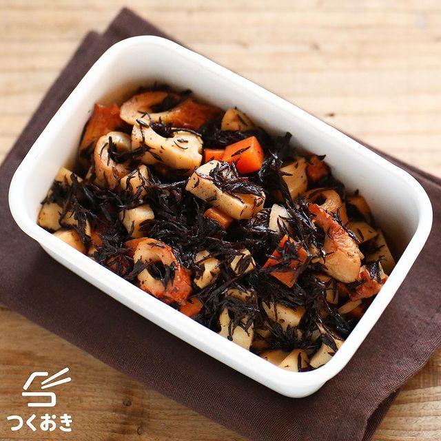 身体に良いひじきと根菜の甘辛煮
