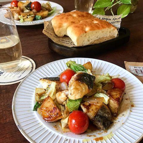 鰆(さわら)と春野菜のたれオイル