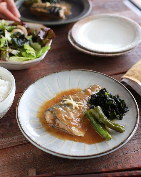 簡単な焼き鯖の味噌煮
