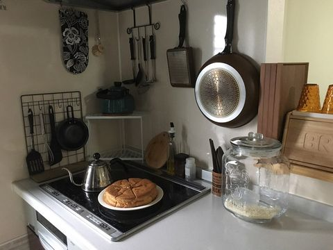 ワイヤーネットで叶うキッチン収納2